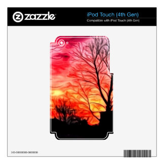 red evening iPod touch 4G skin