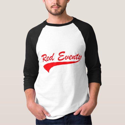 "RED EVENTS ""01"" Baseball Jersey 3/4 Sleeve Shirt"
