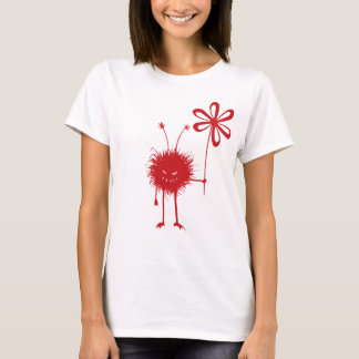 Red Evil Flower Bug Female T-Shirt
