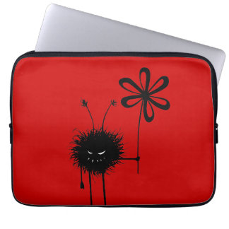 Red Evil Flower Bug Laptop Sleeve