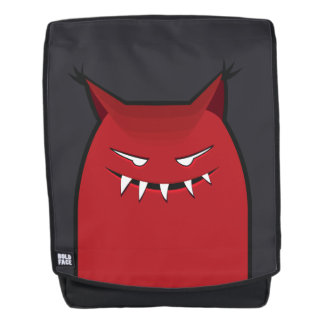 Red Evil Monster With Pointy Ears Backpack