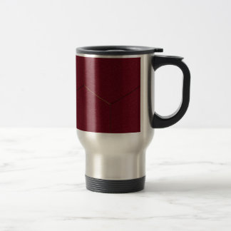 Red examined 15 oz stainless steel travel mug