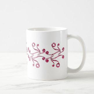 Red examined classic white coffee mug