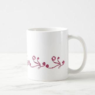 Red examined coffee mug