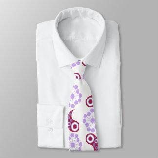 Red examined neck tie