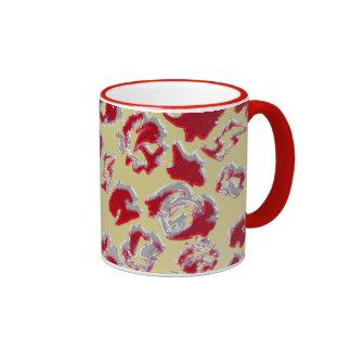 Red examined ringer coffee mug