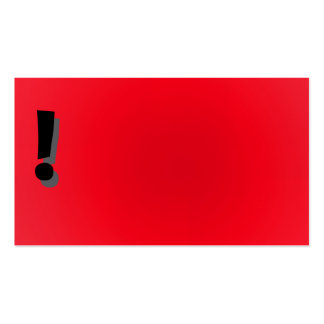 Red exclamation point business card