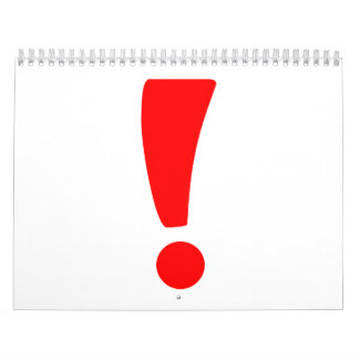 Red exclamation point calendar