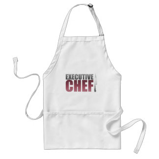 Red Executive Chef Adult Apron