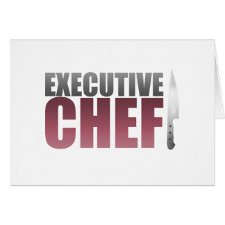 Red Executive Chef Card