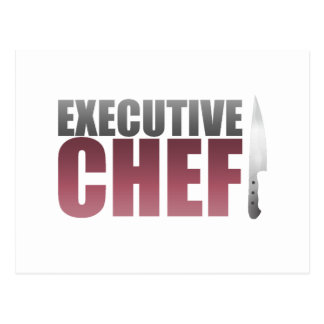 Red Executive Chef Postcard