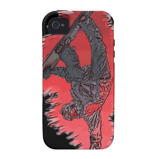 Red explosion snowboarder artistic iphone case Case-Mate iPhone 4 cover