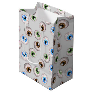 Red eye ball pattern medium gift bag