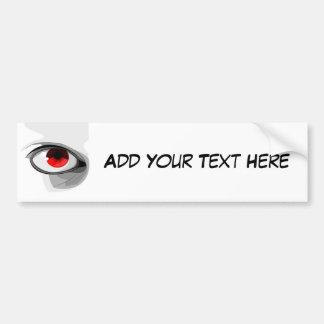 Red Eye Bumper Sticker