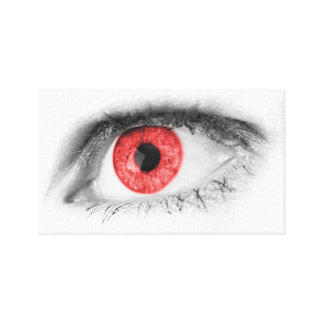 Red Eye Stretched Canvas Prints