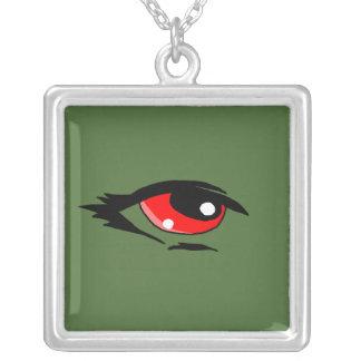 Red eye design matching jewelry set