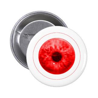 Red Eye Eyeball jGibney The MUSEUM Artist Serie Button