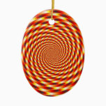 Red Eye - Fractal Ceramic Ornament
