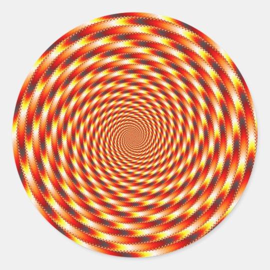 Red Eye - Fractal Classic Round Sticker