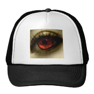 Red Eye fresco abstracto Gorras