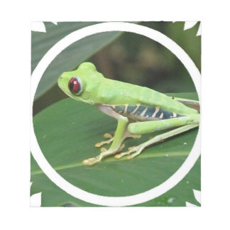Red Eye Green Tree Frog Notepad
