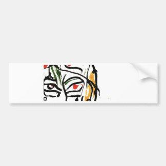 red eye inked face bumper sticker