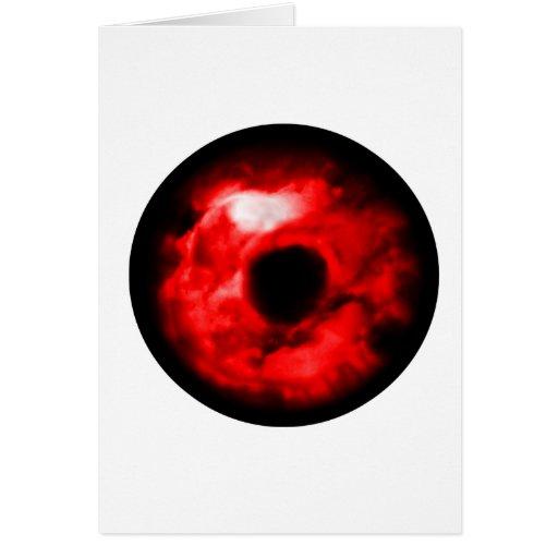 Red eye like graphic, monster eye? Alien eye? Greeting Cards