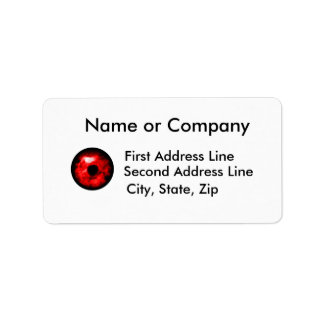 Red eye like graphic, monster eye? Alien eye? Personalized Address Label