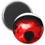 Red eye like graphic, monster eye? Alien eye? Fridge Magnet