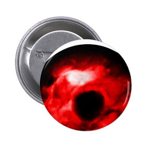 Red eye like graphic, monster eye? Alien eye? Pins