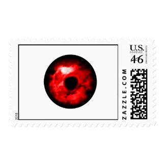 Red eye like graphic monster eye Alien eye Postage Stamp