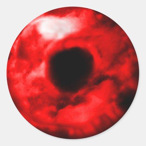 Red eye like graphic, monster eye? Alien eye? Classic Round Sticker