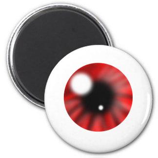Red Eye Orb 2 Inch Round Magnet