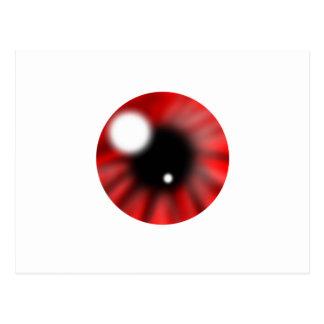 Red Eye Orb Postcard