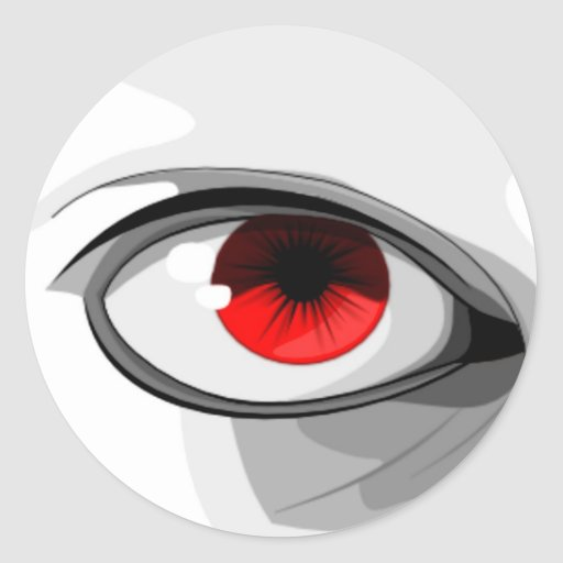 Red Eye Pegatina Redonda