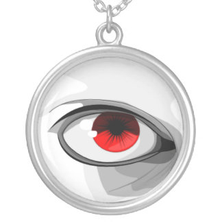 Red Eye Round Pendant Necklace