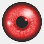 Red Eye Round Sticker