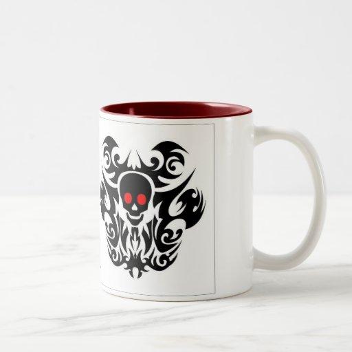 red eye skull coffee mug