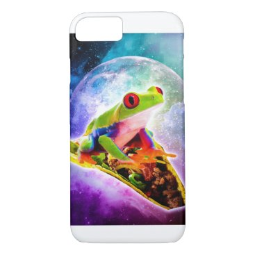 Red Eye Tree Frog Riding Taco In Space iPhone 8/7 Case