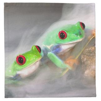 Red Eye Treefrog en la niebla, Agalychinis 2 Servilletas De Papel
