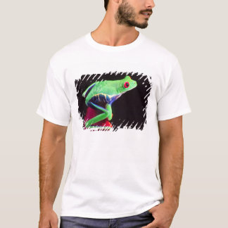 Red Eye Treefrog on a Bromeliad, Agalychinis T-Shirt