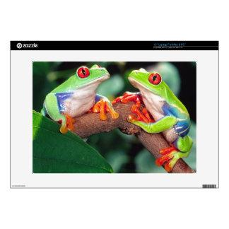"Red Eye Treefrog Pair, Agalychinis callidryas, 15"" Laptop Skins"