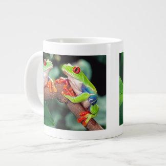 Red Eye Treefrog Pair, Agalychinis callidryas, Giant Coffee Mug