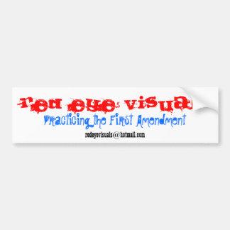 Red Eye Visuals, redeyevisuals@hotmail.com, Pra... Bumper Sticker