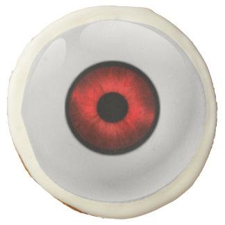 Red Eyeball Halloween Sugar Cookies