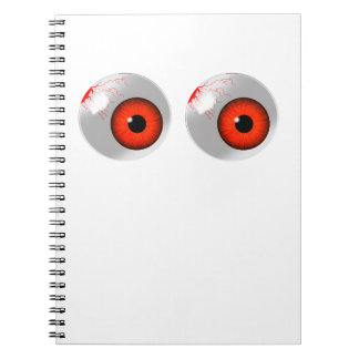 red eyeballs notebook
