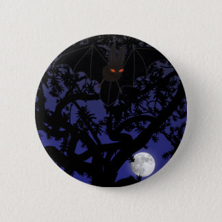 Red-Eyed Bat in Tree Button