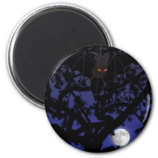 Red-Eyed Bat in Tree Magnet