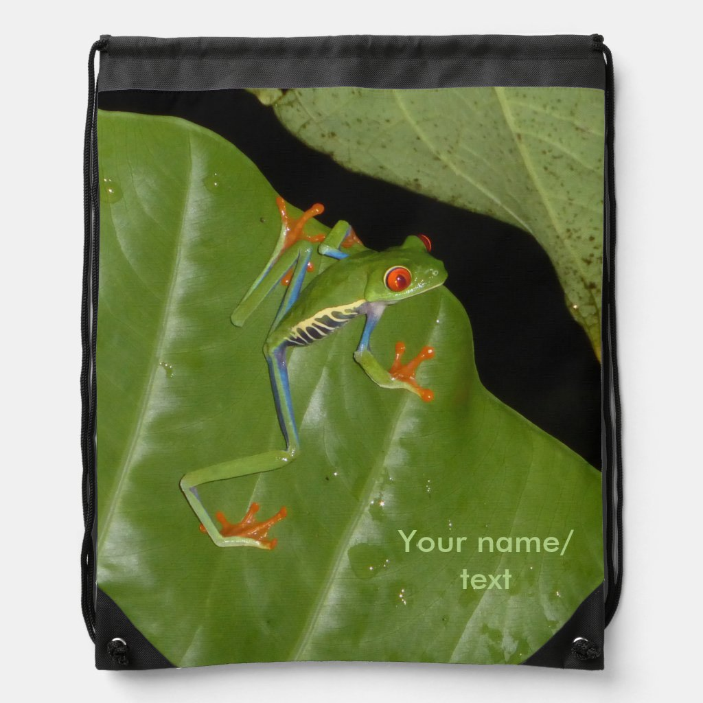 Red eyed Gaudí Frog Drawstring Backpack