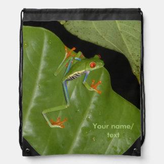 Red eyed Gaudí Frog Drawstring Backpack